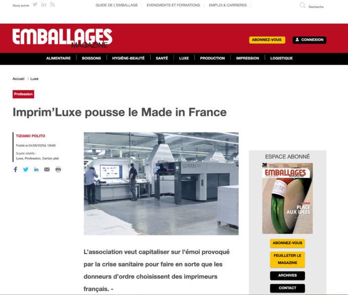 Emballage Mag du 04/08/2020