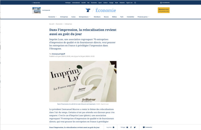 Le Figaro du 23/06/2020